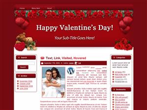 Valentines Heart & Roses Theme > MRR Blogger, HTML and Wordpress ...