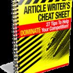 Article Writers Cheat Sheet
