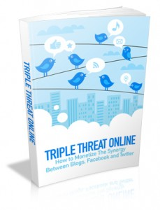 Triple Threat Online With Mrr & Giveaway Rights