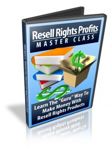 Resell Rights Profits Master Class – Package With Resell Rights
