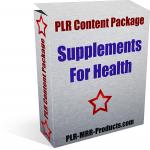 Supplements-Health-PLR-Health