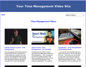 Time_Management_Video_Site_Builder