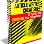 Article Writers Cheat Sheet