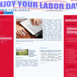 Labor Day Wordpress Theme