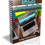 Affiliate Promotion Profits PLR Ecourse